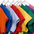 Colorful T-Shirts on White — Stock Photo #13643452