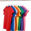Colorful T-Shirts on White — Stock Photo #13643453