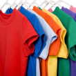 Colorful T-Shirts on White — Stock Photo #13643457