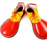 Clown Shoes on White — Stock Photo