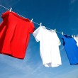 Red, White and Blue T-Shirts — Stock Photo