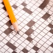Royalty-Free Stock Photo: Crossword Puzzle with Pencil