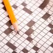Crossword Puzzle with Pencil — Stock Photo