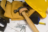 Construction or Handy Man Objects — Stok fotoğraf