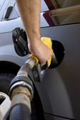 Pumping Gas or Petrol — Foto Stock