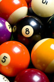 Pool Ball or Billiards Background — Stock Photo