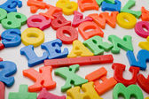"""Learn"" in plastic letters — Stock Photo"
