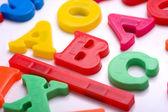 Пластиковые письма - ABC — Стоковое фото