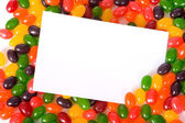 Jelly Bean Note-card — Stock Photo