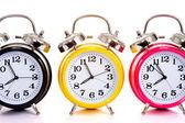 многоцветные часы на белом — Стоковое фото