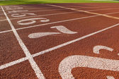 Running Lanes on a Track — Stock Photo