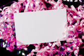 Blank Curly Ribbon Notecard — Stock Photo