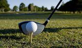 Club y la pelota de golf — Foto de Stock