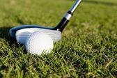 Golf Club and Ball on Fairway — Stock Photo
