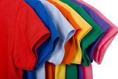 Colorful T-Shirts on White — Stock Photo