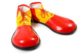Clown Shoes on White — Stock Photo