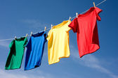Primary Colored T-Shirts — Stock Photo