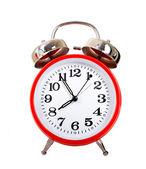 κόκκινο ρολόι συναγερμών — Φωτογραφία Αρχείου