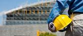 Bauarbeiter am standort — Stockfoto