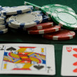 Poker Chips and Cards — Stok fotoğraf