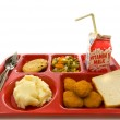 School Lunch Tray — Stock Photo