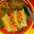 Mexican food plate - Stock Photo
