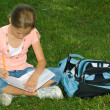 Young girl in park — Stock Photo #13929151