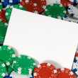 Stock Photo: Blank notecard