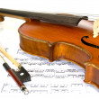 Violin and Music - Stock Photo