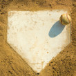 Baseball on Home - Foto Stock