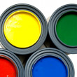 Primary color paints — Stock Photo