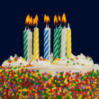 Birthday Cake and Candles — Stock Photo #13929717
