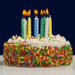 Birthday Cake and Candles — Stock Photo #13929718