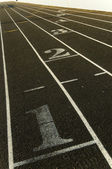 Marking on a track — Stock Photo