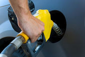 Getting Gas or petrol — Stock Photo