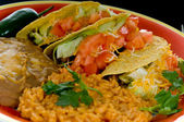 Mexican food plate — Stock Photo