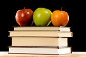 Apples and Books — Stock Photo