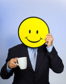 Smiley Face Man — Stock Photo