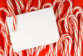 Candy cane notecard — Stock Photo