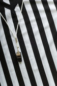 Referee Jersey and whistle — Stock Photo