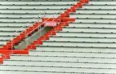 Siedzącego na stadion — Zdjęcie stockowe