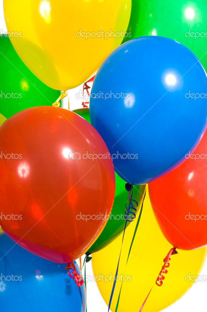Primary color party balloons for a background — Stock Photo #13929356