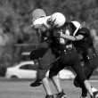 American Football - Youth - Tackle! - black and white variation — Stock Photo