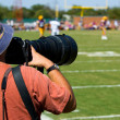 Professional Sports Photogapher - american football — Stok fotoğraf
