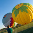 Stock Photo: Hot Air Balloon launching