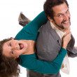 Happy Young Couple - goofing off — Stock Photo