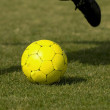 Stock Photo: Soccer Ball - Football Yellow