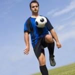 Soccer - Football Player Juggling — Stock Photo