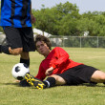 Football - Soccer - Tackle! — Stock Photo