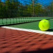 Tennis balls on Court - Stockfoto